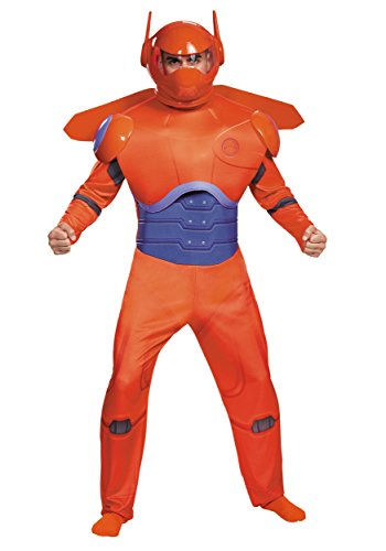 Disguise Men's Red Baymax Deluxe Adult Costume, Red, -