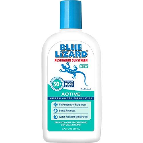 Blue Lizard Australian Sunscreen - Active Sunscreen SPF 30+ Broad Spectrum UVA/UVB Protection - 8.75 oz Bottle