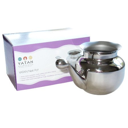 Stainless Steel Neti Pot for Complete Nasal/Sinus Cleansing
