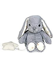 Cloud b Dreamy Hugginz Musical Plushies - Grey Bunny
