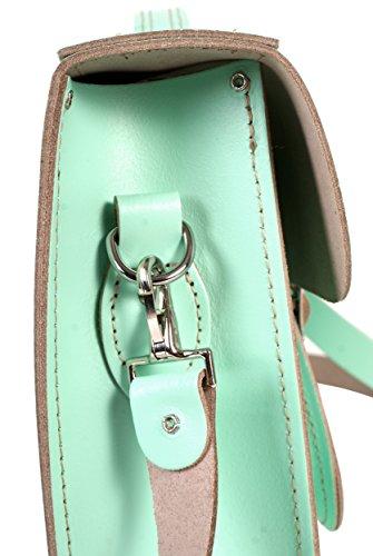 Oxbridge Satchel's, Borsa a secchiello donna Verde Verde menta