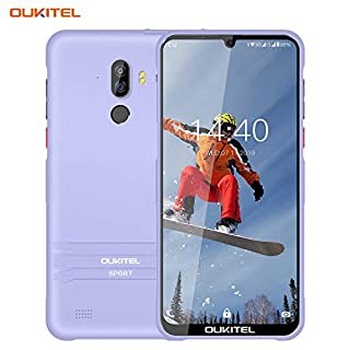 Rugged Cell Phone Unlocked OUKITEL Y1000 IP68 Waterproof Android Phones 9.0Pie Cortex-A7 Processor 2GB+32GB Smartphone Unlocked Dual Sim Card Super Thin 6 Inch Drop Display Non-Detachable Silicone