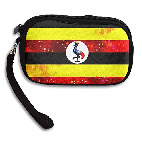 Coin Purse Uganda Flag Starry Flag Coin Pouch With Zipper,Make Up Bag,Wallet Bag Change Pouch Key Holder