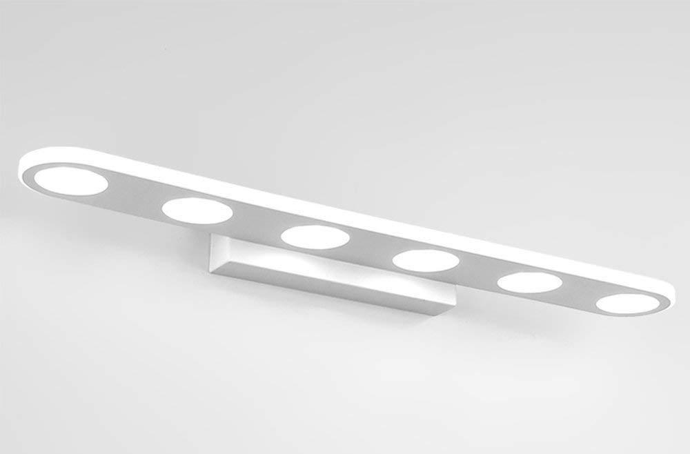 Chuiqingwang ミラーヘッドライト - シンプルモダンモダンメタルボディアクリルシェードLEDミラーフロントライトバスルームウォールライト (Color : White Light) B07TJYNQL6 White Light