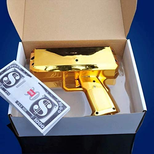 CLYDD Money Gun Gold Cash Gun Pretend Play Toy Pet Toy