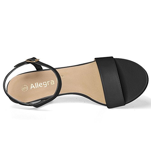 Heel Ankle Allegra Gold Black Women's Strap K Sandals6 Us Stiletto M c34Ajq5RL