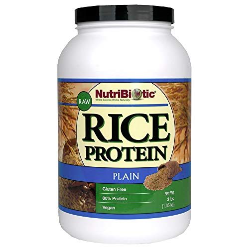 NutriBiotic Raw, Rice Protein, Plain, 3 lbs (1.36 kg)