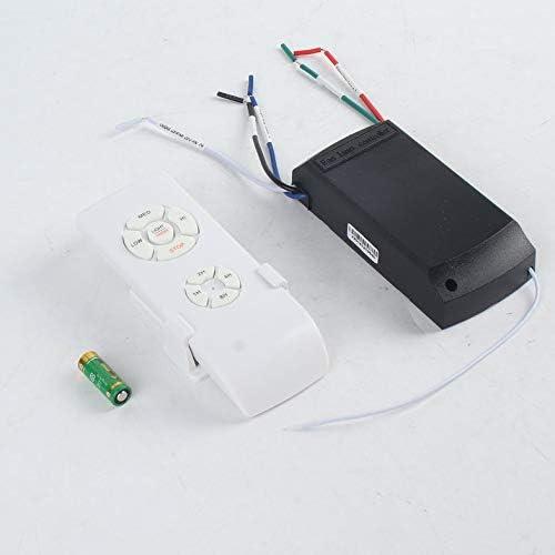 Kit de control remoto de lámpara de ventilador de techo universal 110-240V Interruptor de control inalámbrico de sincronización de transmisor de velocidad de viento ajustado Receptor - Blanco: Amazon.es: Iluminación