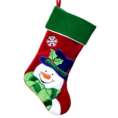 Personalized Christmas Stockings - Happy Snowman (Happy Snowman,