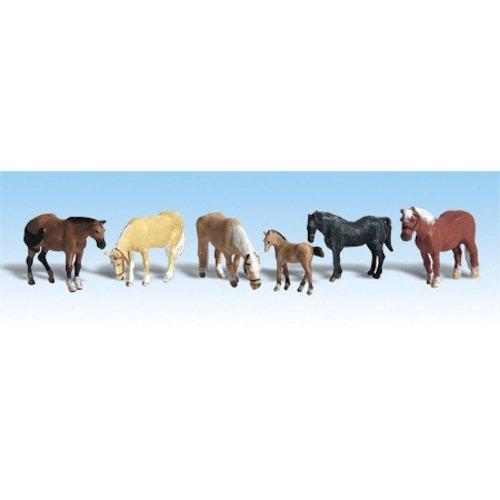 Woodland Scenics Ho Farm (Woodland Scenics HO Scale Scenic Accents Figures/Animal Set Farm Horses (6) by Woodland)