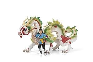 Schleich 70446 Auruun - Figuras de guerrero y dragón