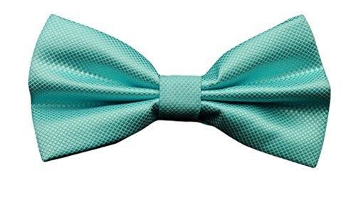 Color Solid Dress Lake Pre Men's Bow tied Ties Blue Formal Tie Tuxedo Plaid Check MENDENG qERagw