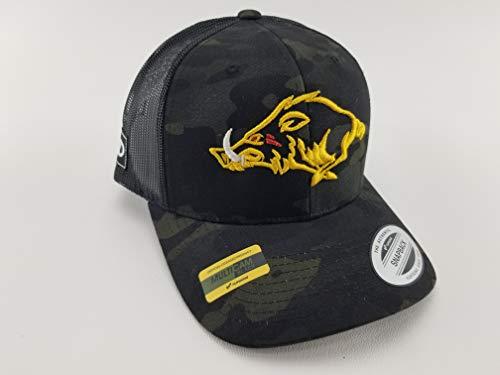- Multicam Hog Hat, hunting hogs, MAD Hog, hunting trucker hat, hunting hat, black multicam hat, camo hunting hat, camo cap, hunter gifts, hunter hat, hog life, snapback, trucker hat