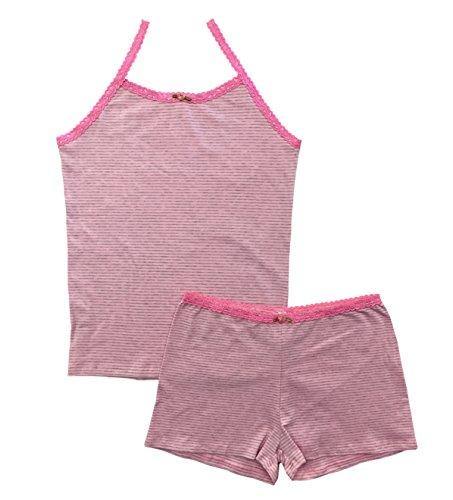 Esme Girl's Sleepwear Camisole/Boxer Shorts Pajama Set 2T Pink - Boxer Girl Stripe