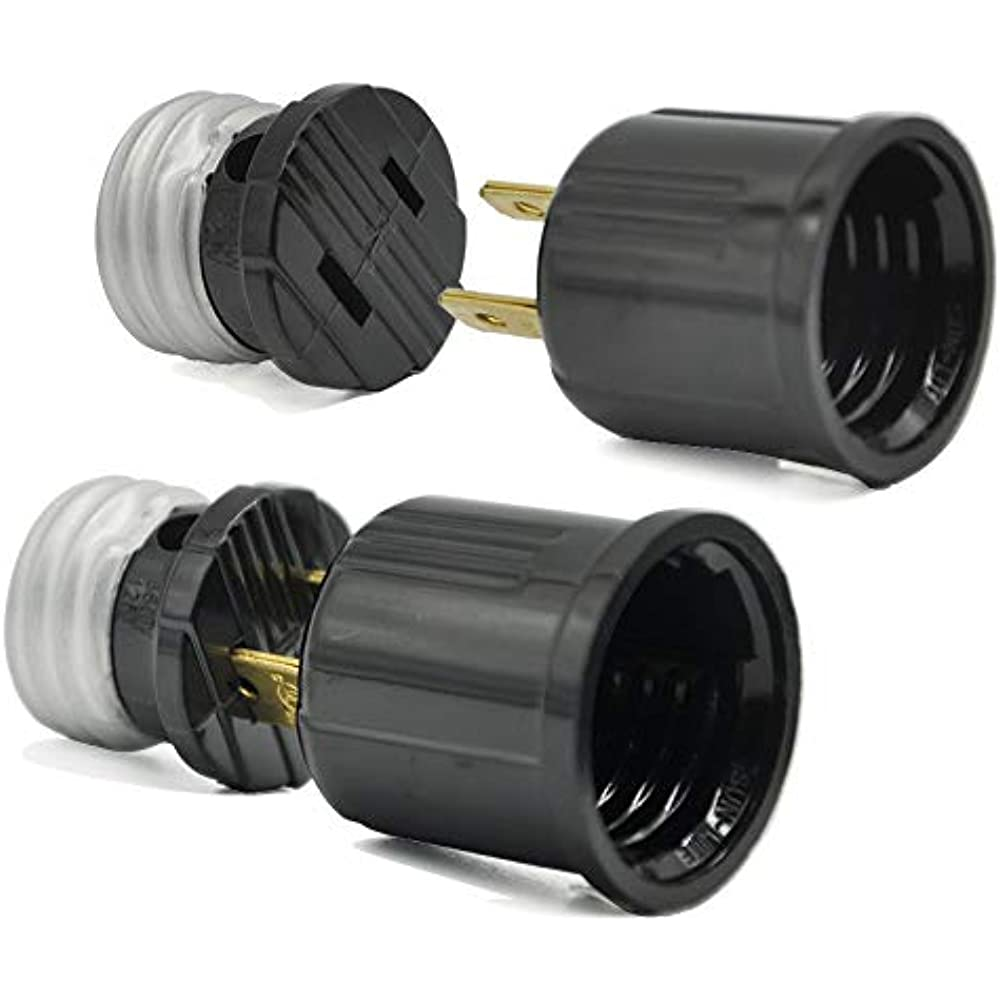 Light Bulb Socket To Outlet Adapter, Plug-in Kit, US ... on Sconces No Electric Plug id=24626