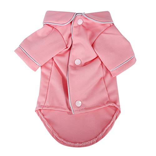 2019 New!!Puppy Clothing Apparel Costume,Pet Dog Sleepwear Pajamas Clothes Cute Sweeter (S, Pink)