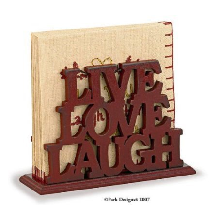 Park Designs Word Play Red Wood Luncheon Napkin Holder