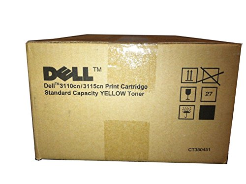 Dell 3110CN/3115CN Standard Yellow Toner (4,000 Yield) (OEM# 310-8099; 310-8402), Part Number NF555