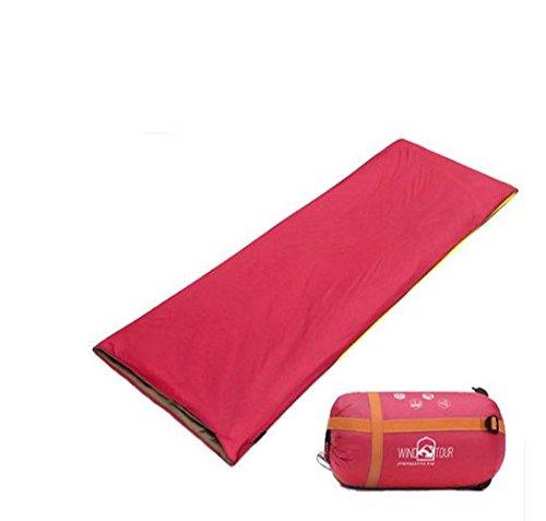 Camping Schlafsäcke, Die neuen Frühling und Sommer im Freien Tasche Erwachsenen Schlaf warmer Schlafsack Mittagspause Umschlag Einzelbaumwollschlafsack zu halten (gespleißt werden kann) ,Schlafsack Wassermelonenrot
