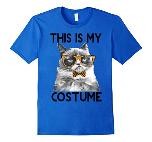 Mens Grumpy Cat Halloween This Is My Costume Bowtie T-Shirt 3XL Royal Blue for $<!--$19.99-->