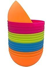 Plastic Bowls Set of 12 - Unbreakable and Reusable 24oz/5.9 inch Plastic Cereal/Soup/Salad Bowls in4 Assorted Color | Dishwasher Safe, BPA Free