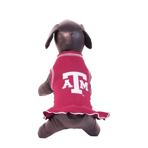 All Star Dogs NCAA Texas A&M Aggies Cheerleader Dog Dress (Team Color, Medium) by All Star Dogs
