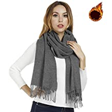 Winter Scarf for Women Men, Soft Thick Warm Cashmere Shawls Wraps, Ideal Gift,Large 80x27.5inch, Various Colors