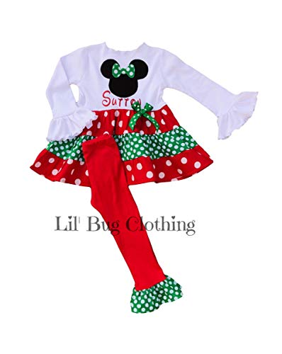 Minnie Mouse Christmas Dress.Amazon Com Christmas Holiday Girl Minnie Mouse Outfit