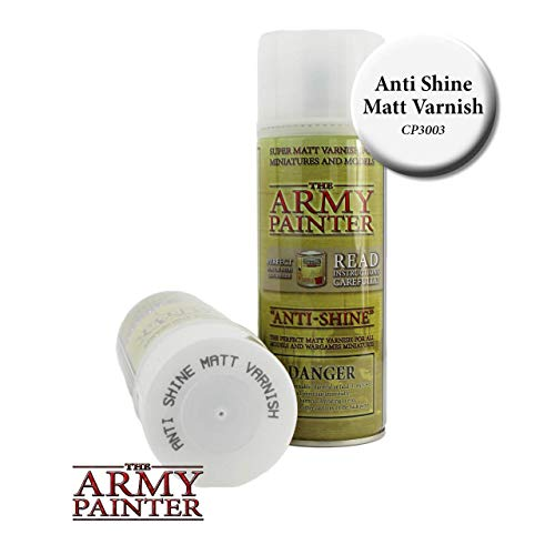 The Army Painter Anti Shine Matt Varnish for Miniature Painting - Acrylic after Quickshade Protector Spray Varnish for ()