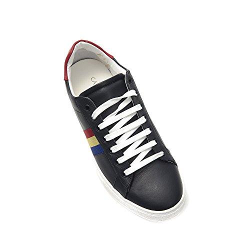 Made Castelbajac Sneaker Italy in Rosso Blu Pelle Uomo Stringata in Blu Scarpa UBYwdrqB