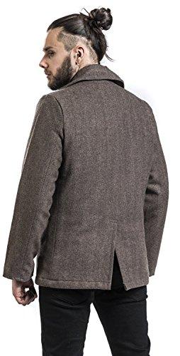 Blu Uomo Brandit Herringbone Marrone Denim Coat Pea wP0Pqd7W1I