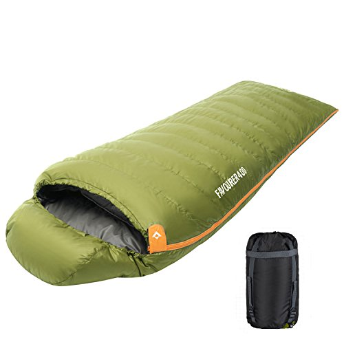 KingCamp Duck Down Ultralight Compact 10.4℉ Sleeping Bag for Camping,Hiking,Backpacking (Duck Sleeping)