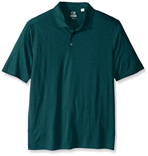 Cutter & Buck Men's Big and Tall Cb Drytec Chelan Polo, Midnight Green Heather, 4X