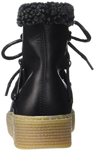 black Bottes Pspaccia De Noir Femme Neige Black Leather Pieces Boot zT6II