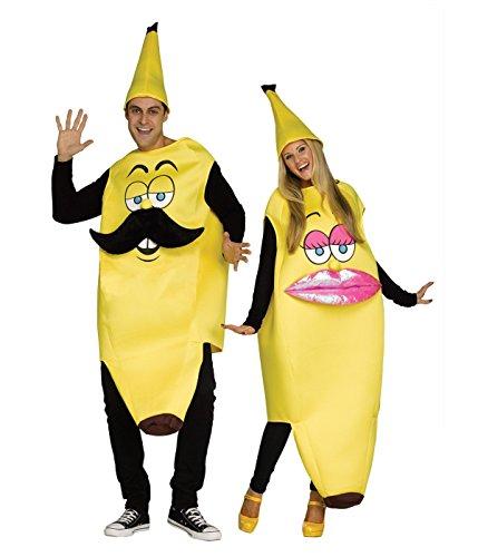 Fun World Ms. Banana Adult Women Costume, Yellow, One Size ()