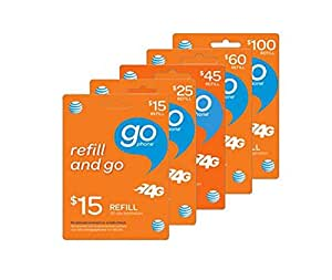 $100 AT&T Prepaid (GoPhone) Calling Card | Instant Refill | No Annual Contact ($100 Prepaid Minutes)