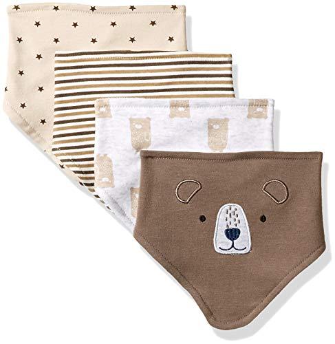 Rene Rofe Baby Collection Newborn Unisex 4 Pack Bandana Bibs,