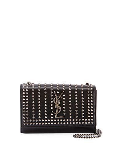 dfcf09f3be6 Saint Laurent Kate Monogram YSL Small Studded Leather Chain ...