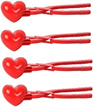 Heart Shaped Snowball Maker Clip with Handle, Snowball Maker, Kids Snowball Shaper, Heart Shape Snowball Maker