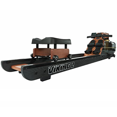 First Degree Fitness Indoor Water Rower with Adjustable Resistance Viking II Black Reserve