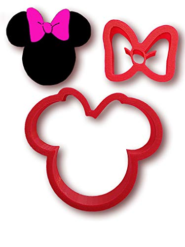 Minnie mouse cookie cutter set (3 Inches) Cookie cutter fondant baking tool. Made in USA]()