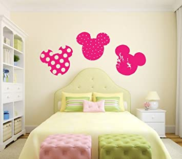 Mickey And Minnie Mouse Heads Silhouette Vinyl Wall Decal Sticker Graphic  By LKS Trading Post Part 81