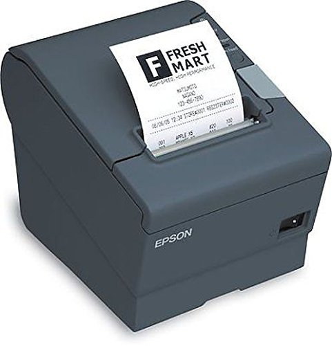 Epson C31CA85084 TM-T88V Thermal Receipt Printer Serial and USB Energy Star with PS180 - Color Dark (Epson Gray Serial Power Supply)
