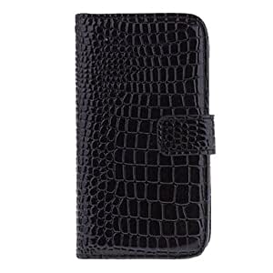 Snake Grain Leather Plastic Stand Case with HD Screen Protector for Samsung Galaxy S4 i9500/i9505