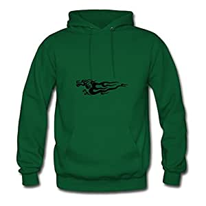 X-large Dragon Print And Let You Handle It Style Personality Women Green Hoodies
