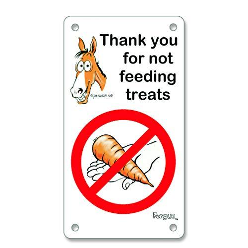 """No Treats"" Stall Sign"