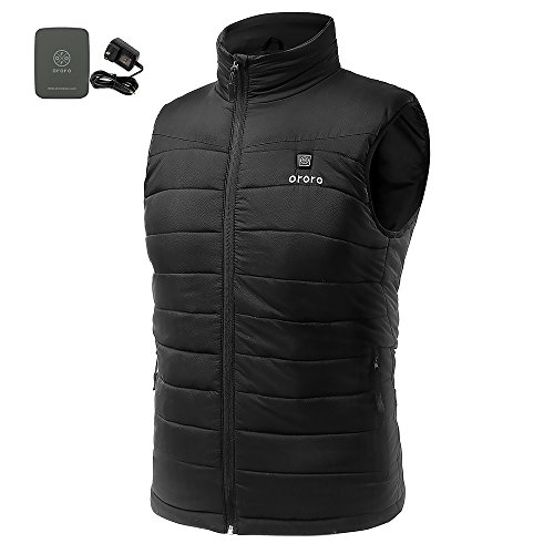 ORORO Men's Lightweight Heated Vest with Battery Pack(X-Large) by ororo