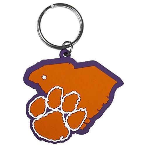 Clemson Keychain (Siskiyou NCAA Clemson Tigers Home State Flexi Key Chain)