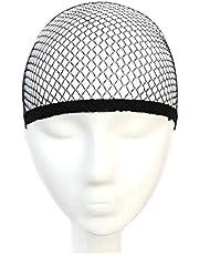قبعة شبكية لتثبيت الشعر المستعار مرنة وقابلة للتمدد، اسود، موديل 2724640631742