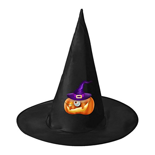 [Comic Pumpkin Wizard Conical Cosplay Witch Hat Toy to Halloween Costume Ball for Unisex Kids Adults] (Homemade Comic Costumes)